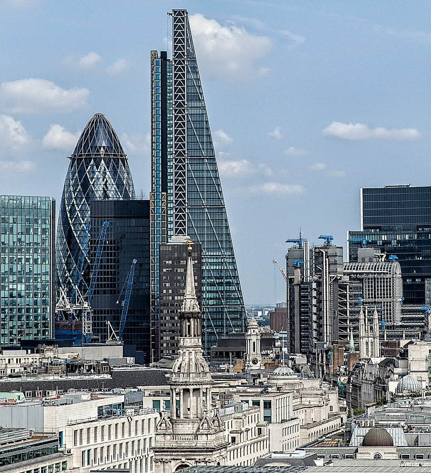 City of London Skyline - view from the roof of St Paul's Cathedral