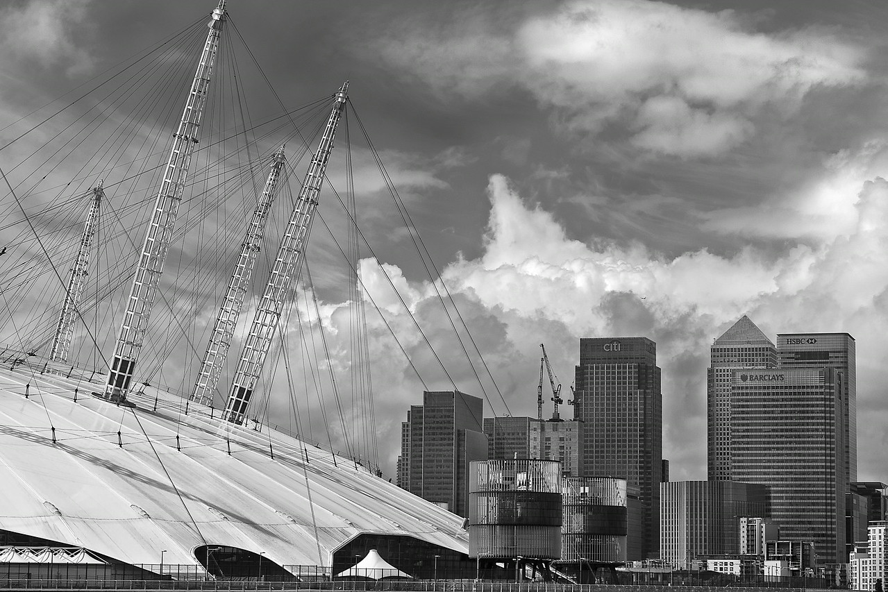 O2 Arena Roof in Greenwich, London