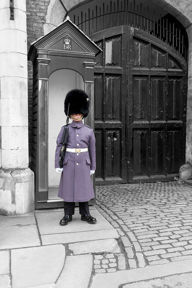 Irish Guard outside St James's Palace in London, England