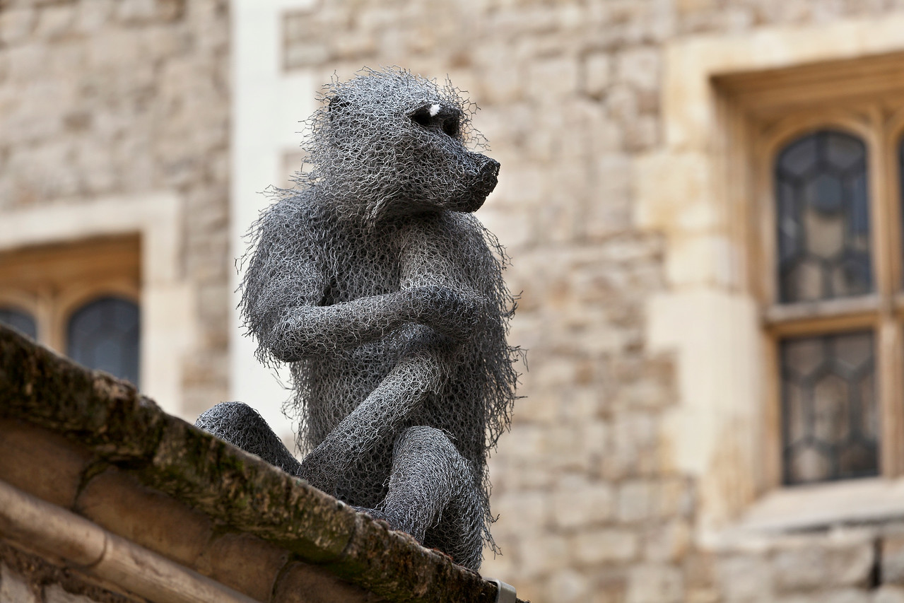 Monkey sculpure at the Tower of London