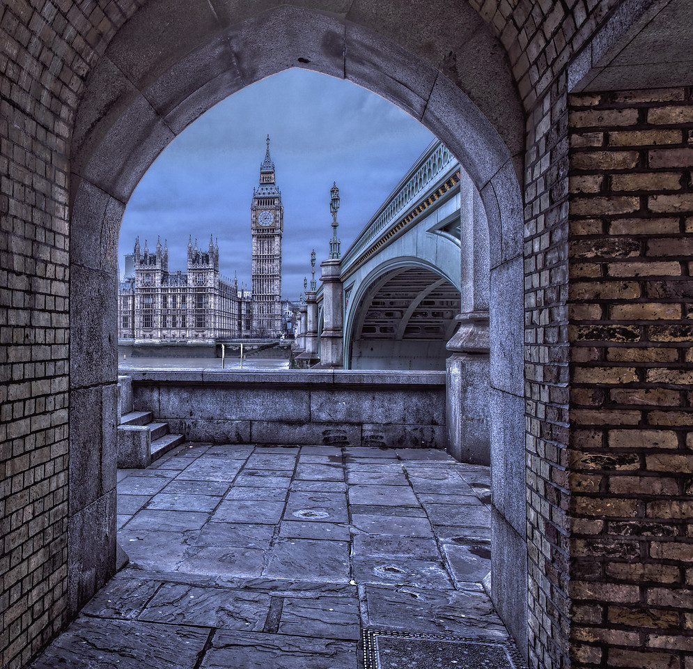 Big Ben and Westminster Bridge Through the Arch