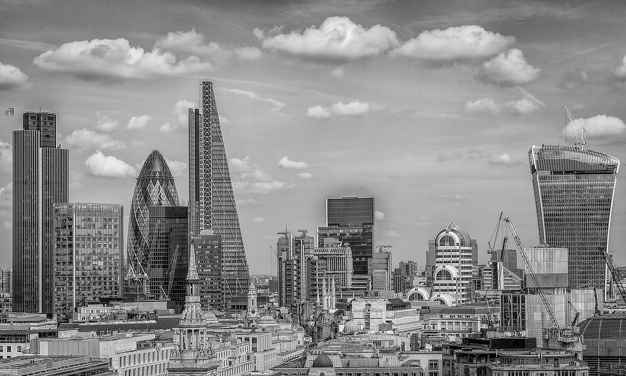 The City of London from St Paul's Cathedral