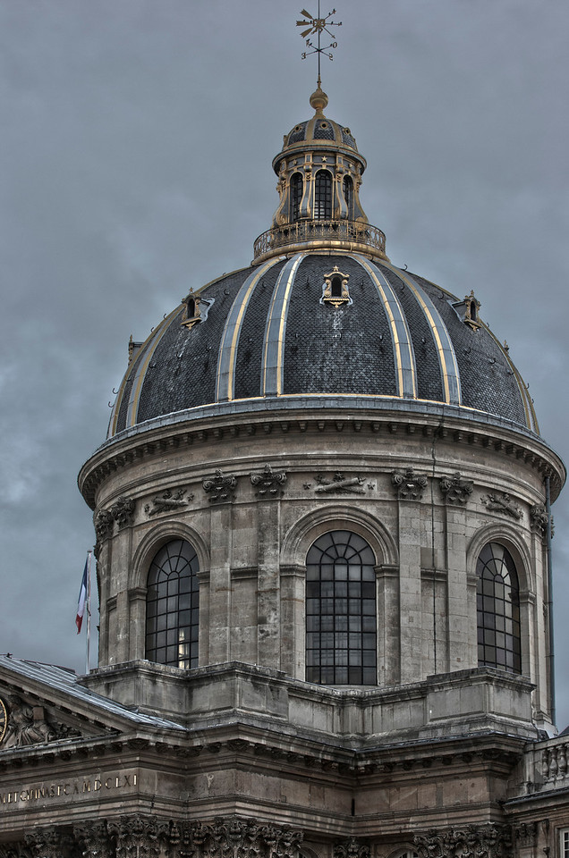 Dome of the Sorbonne University in Paris, France.