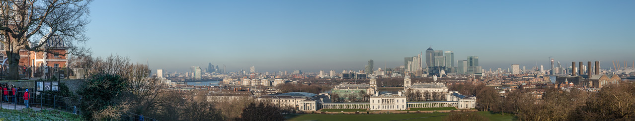 Panorama of London from Greenwich Park in London