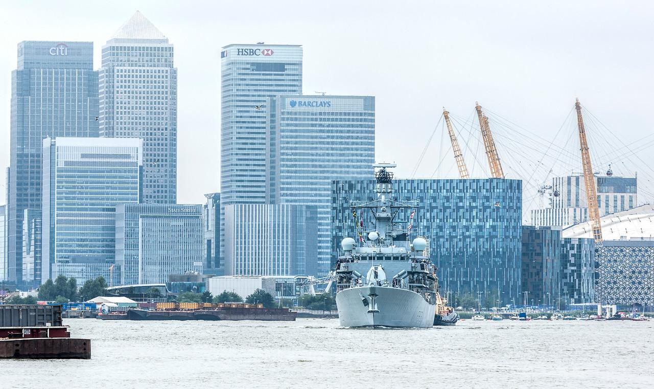 Royal Navy Frigate at Greenwich