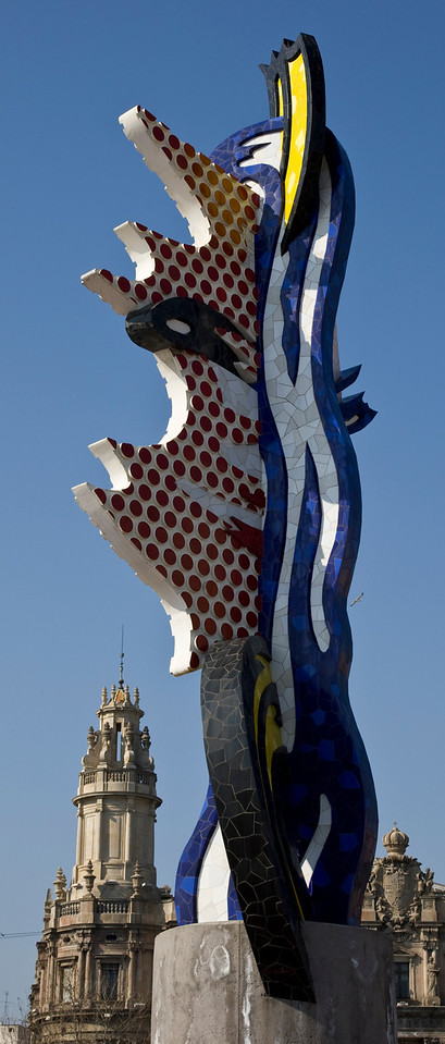 Modern Art Sculpture in Barcelona Spain