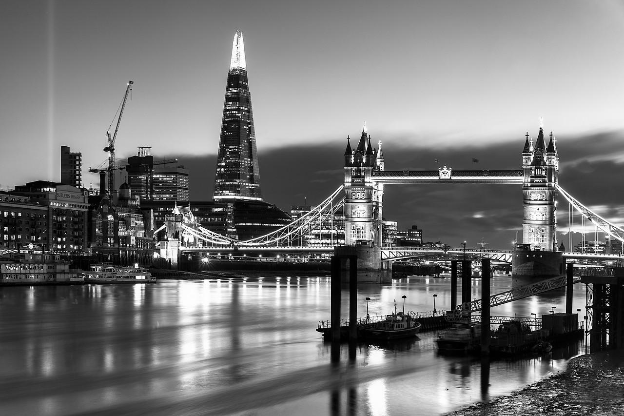 Tower Bridge and The Shard at Sunset